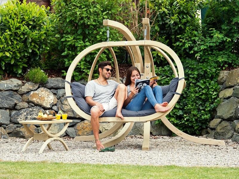Fotel hamakowy dwuosobowy drewniany
