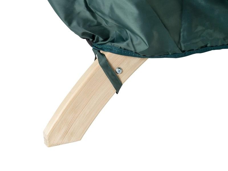 Pokrowiec na dwuosobowy fotel drewniany