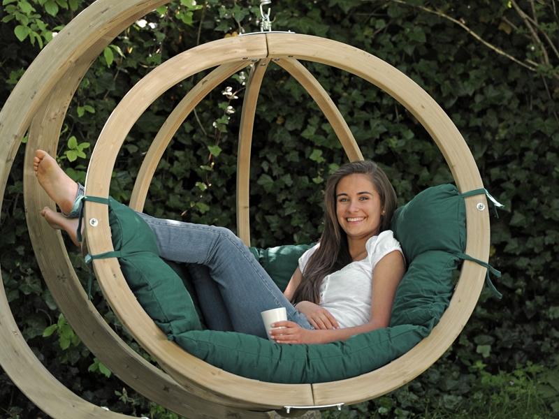 Fotel hamakowy drewniany