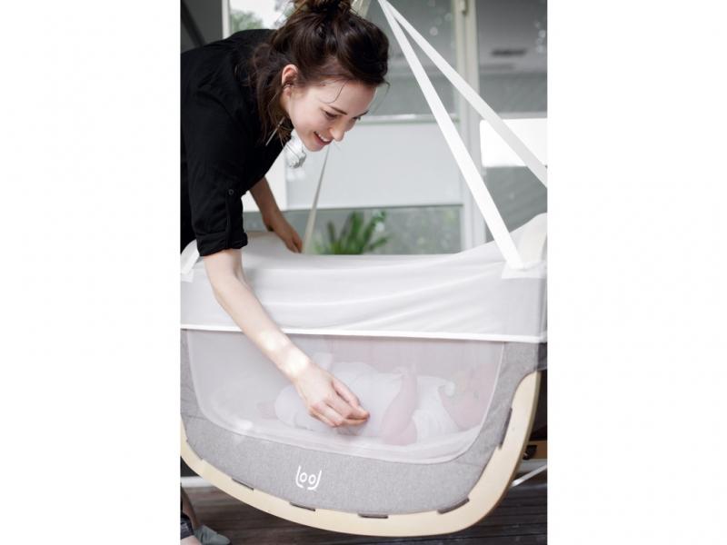 Moskitiera do kołyski dla niemowlaka